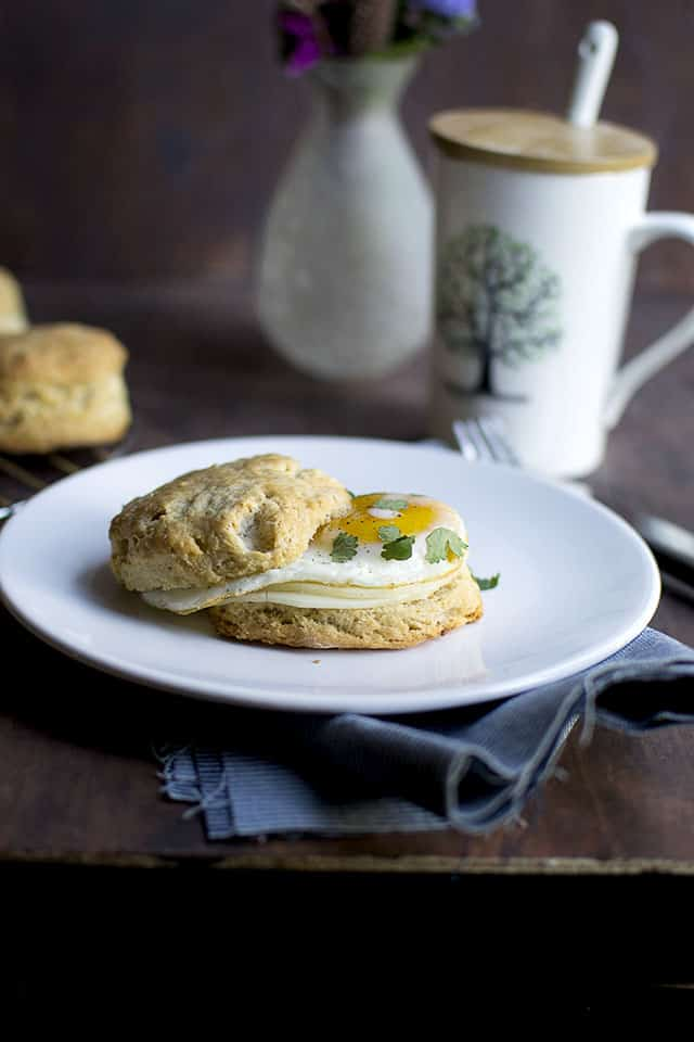 Breakfast Biscuits with Sourdough