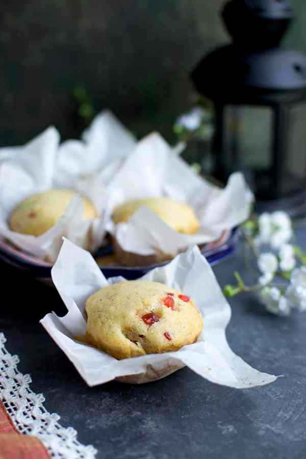 Eggless Mawa Cupcakes