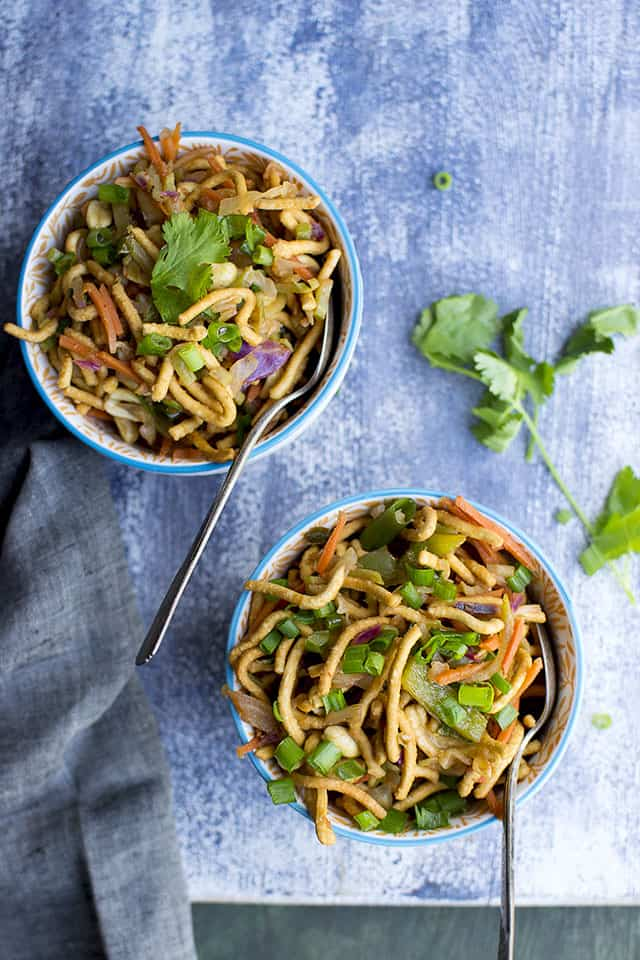 Bhel with Chinese twist