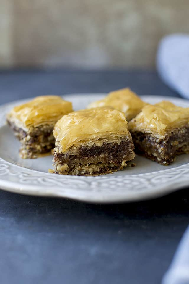Baklava with Nutella & Nuts