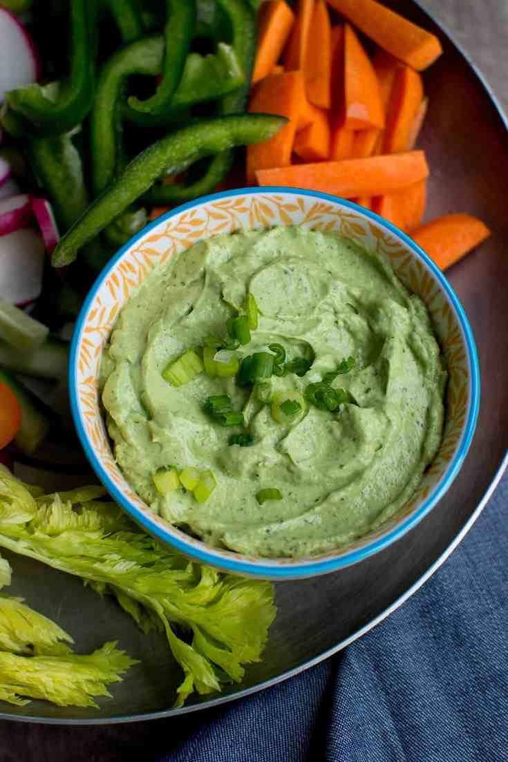 Avocado Green Goddess dip