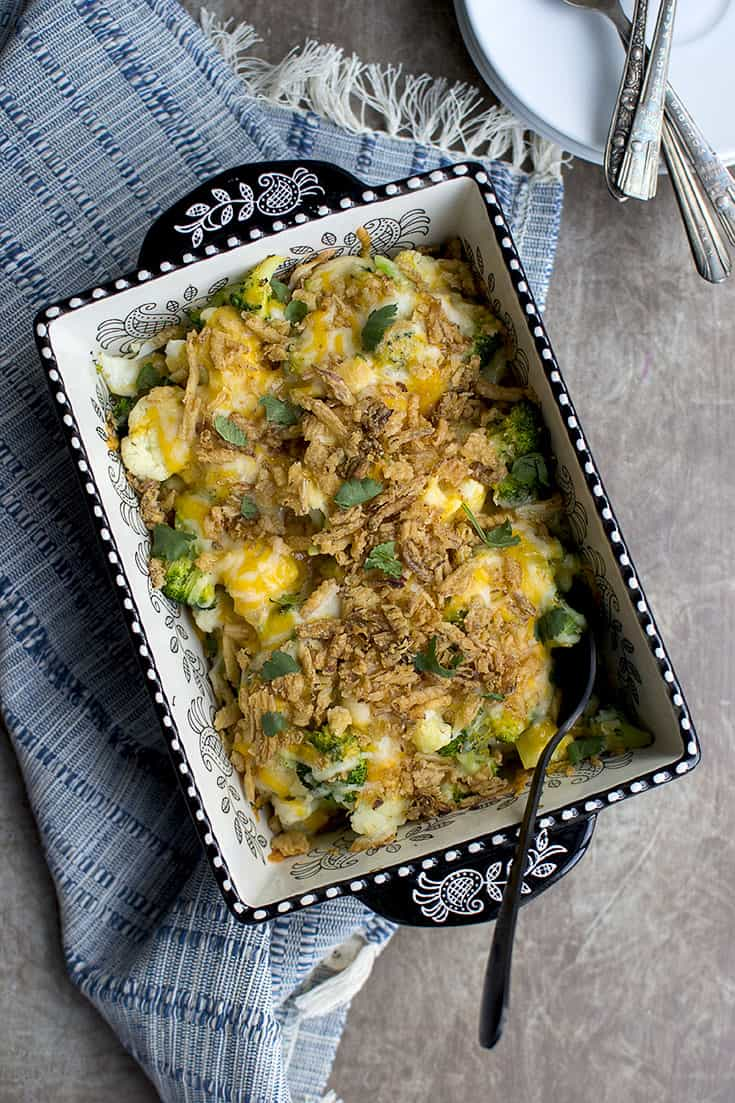 Casserole with Cauliflower and Broccoli