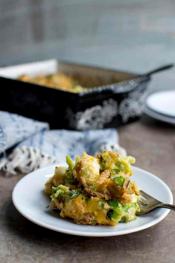 Casserole with Cauliflower and Broccoli
