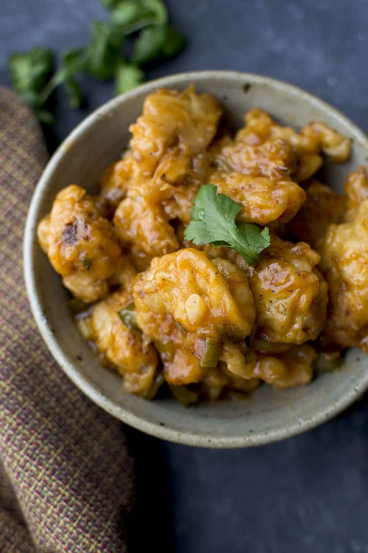 Indo-Chinese Cauliflower Fritters