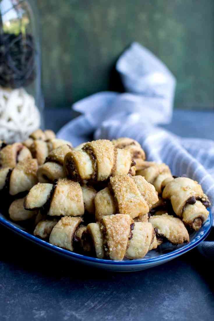 Rugelach with Walnuts & Cranberries