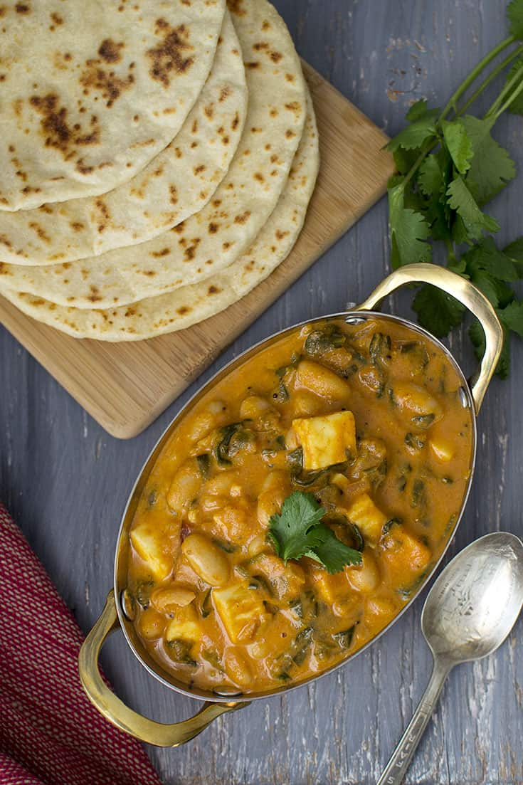 Paneer & White Beans Curry Recipe