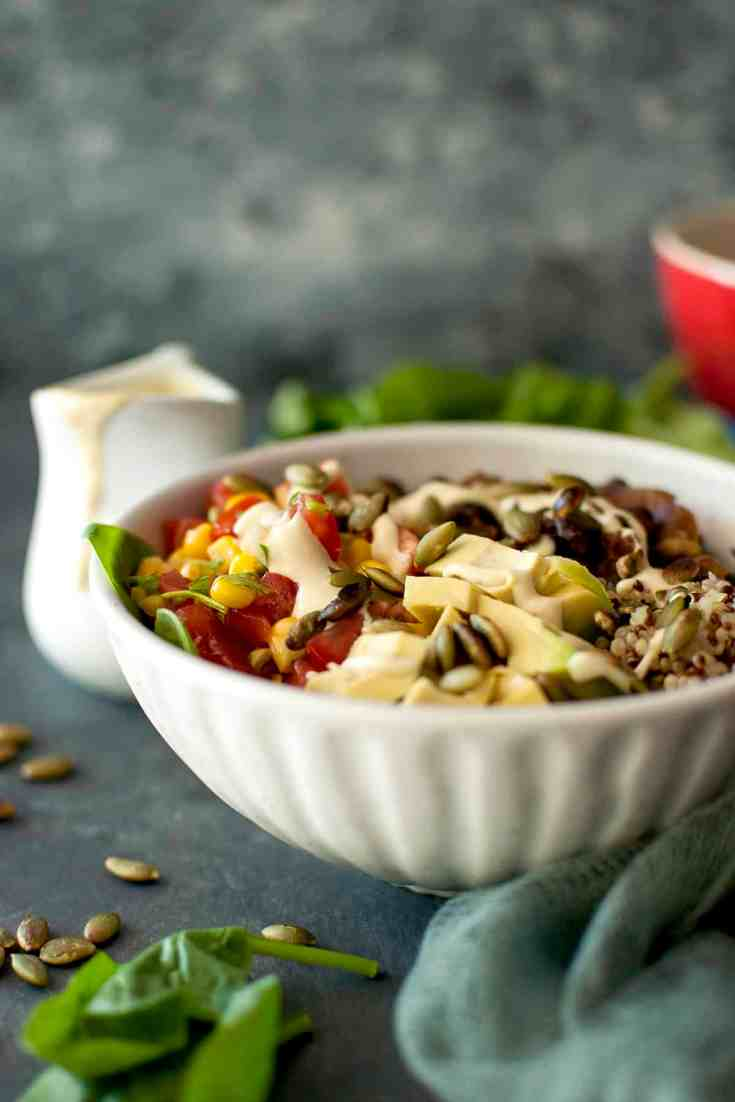 Vegan Grain Bowl with Cashew Queso
