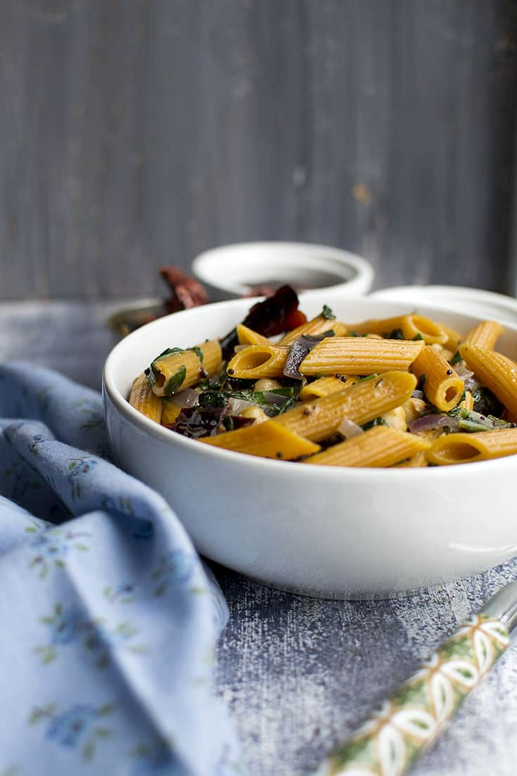 Vegan Indian Style Pasta
