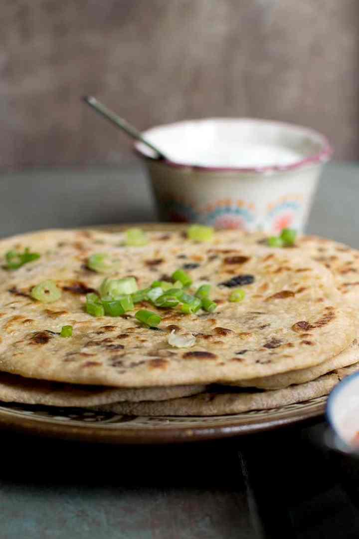 Vegetarian Kheema Paratha