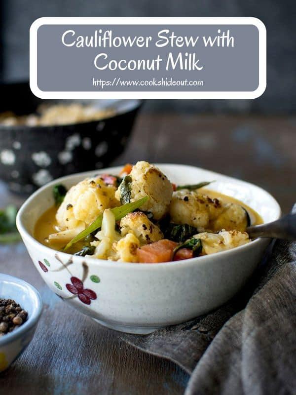 Cauliflower Stew with coconut milk & pepper