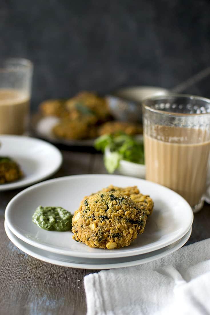 Spinach Lentil Fritter