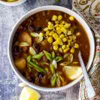 Black Bean Veggie Soup for Snow Days Recipe