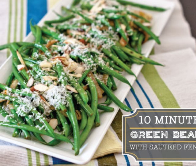 Microwaved Green Beans With Sauteed Fennel