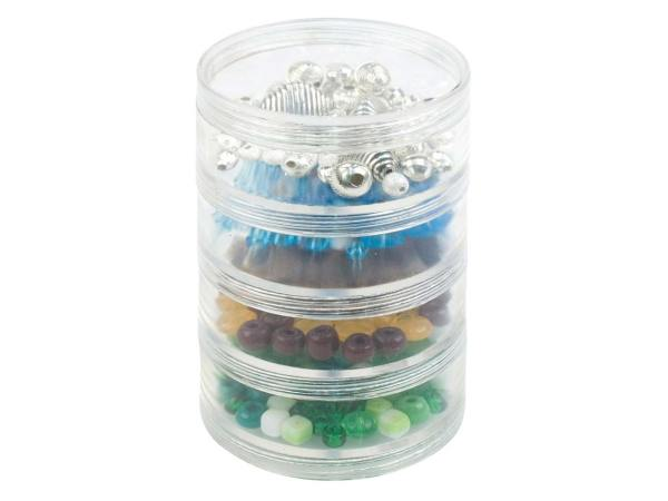 Beadalon Large Bead Storage Stackable Containers Four