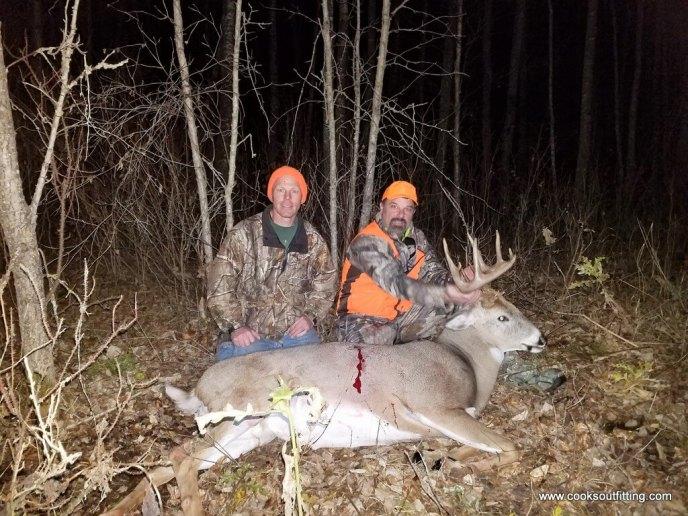 deer hunt in woods - image