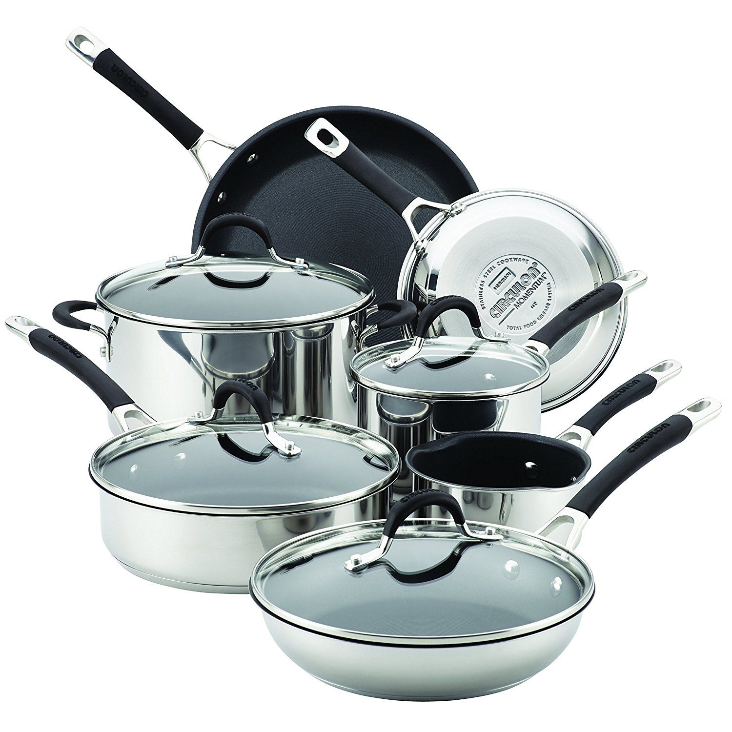 Circulon 78003 11 Piece Momentum Nonstick Cookware Set, Stainless Steel Review