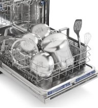 cleaning stainless steel cookware in the dishwasher
