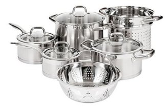 Duxtop Professional Stainless Steel Cookware Set Impact-bonded Technology 10-pc Set Review