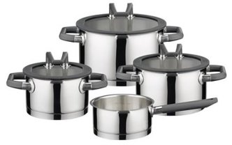 ELO Cookware 7-Piece Black Pearl Stainless Steel Kitchen Induction Pots and Pans Set Review