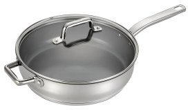 T-fal C71882 Precision Stainless Steel Saute Fry Pan ,5-Quart
