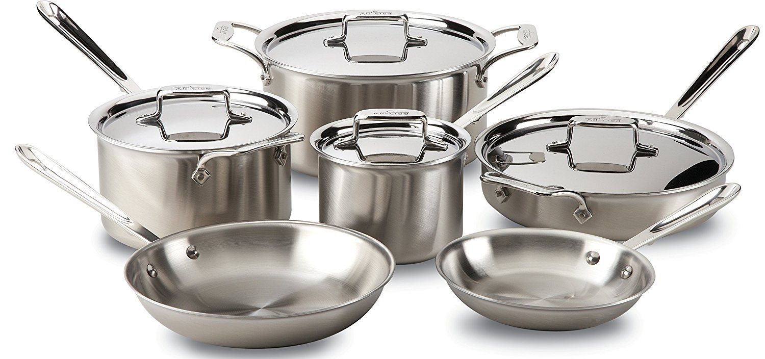 All-Clad BD005710-R D5 Stainless Steel Cookware Set, 10-Piece Review