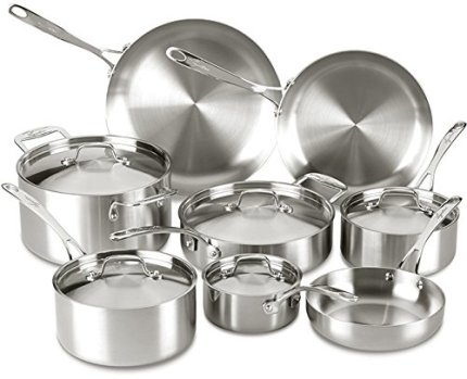 Lagostina Q555SD Axia 13-Piece Stainless Steel Cookware Set Reviews