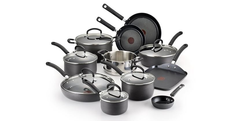 T-fal E765SH Hard Anodized Nonstick Cookware Set, 17-Piece Review - best non stick cookware