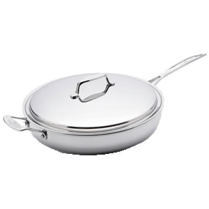 USA Pan Stainless Steel 13 Inch Gourmet Chef Skillet With Cover