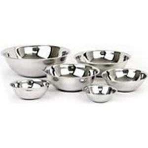 Adcraft Stainless Steel Mixing Bowl Set 6 piece