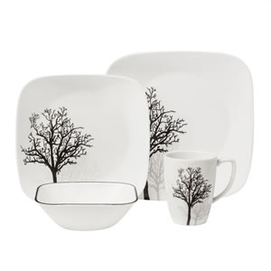 Corelle Square 16-Piece Dinnerware Set Review - Best Ceramic Dinnerware Set