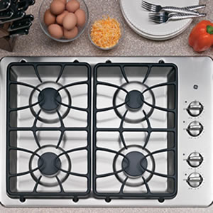 GE 4 Sealed Burner Built-In Gas Cooktop