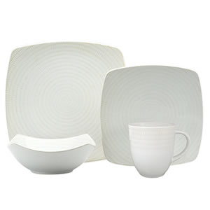 Red Vanilla White Rice 16-Piece Dinnerware Set