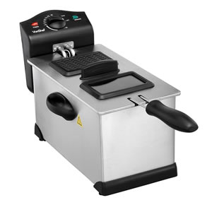 VonShef Deep Fryer with Basket and Viewing Window