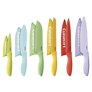 Cuisinart C55-12PCER1 Ceramic Coated Knife Set with Blade Guards