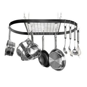 Kinetic  Wrought-Iron Oval Pot Rack 12021
