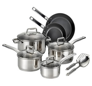 T-fal C718SC Ceramic Coating 12-Piece Cookware Set
