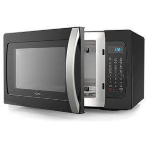 hOmeLabs Countertop Microwave Oven with Accessories