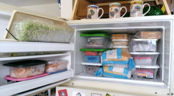 organize the freezer