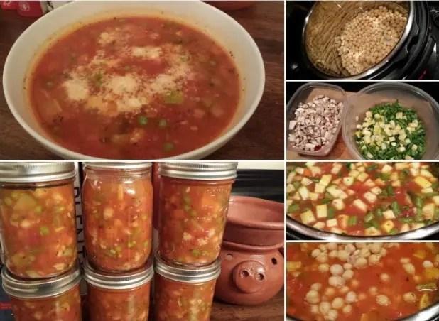 Instant Pot Vegetable & Chick Pea Soup