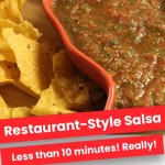 Restaurant-Style Salsa | Less than 10 Minutes!