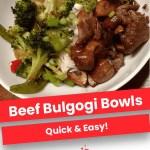 Beef Bulgogi Rice Bowls