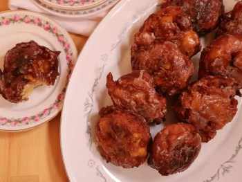 Apple Fritters with Chai Spice Glaze