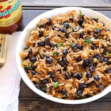 Black Bean Rice / spanish rice / red rice / arroz rojo / Mexican Rice