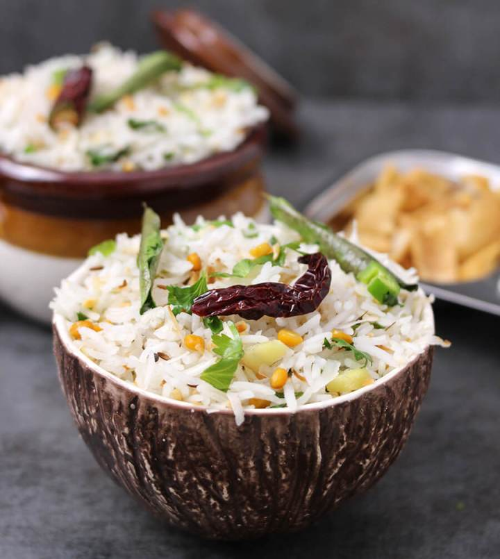 Coconut Rice / Thai coconut Rice / Thengai Sadam / White rice recipe / vegan rice recipe / Best rice recipe / healthy rice recipe / gluten free recipe / easy dinner recipe / easy rice recip / indian rice recipe / south indian recipe / dinner recipe / spicy rice recipe / basmati rice recipe / Navratri recipe / Prasadam recipe Coconut Rice Instant Pot / Breakfast rice / vrat recipe / upvas recipe / fasting recipe / Indian coconut rice / Jamaican Coconut Rice  / Basmati Coconut Rice