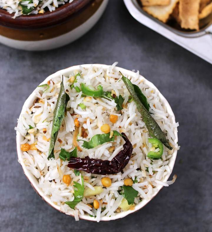 Coconut Rice / Thai coconut Rice / Thengai Sadam / White rice recipe / vegan rice recipe / Best rice recipe / healthy rice recipe / gluten free recipe / easy dinner recipe / easy rice recip / indian rice recipe / south indian recipe / dinner recipe / spicy rice recipe / basmati rice recipe / Navratri recipe / Prasadam recipe