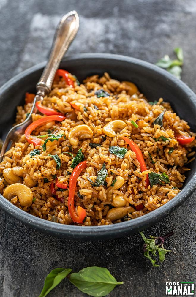 Instant Pot Thai Basil Fried Rice