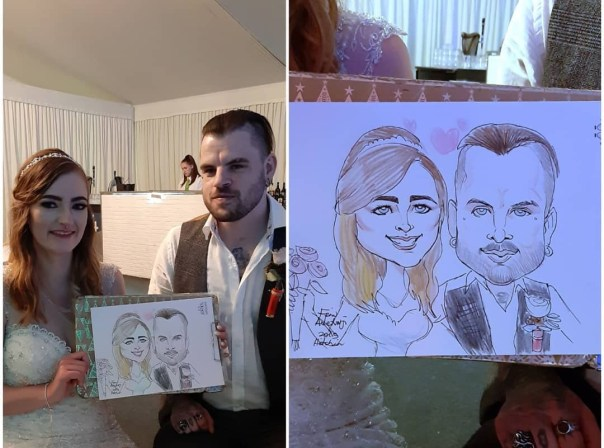 wedding entertainment ideas- Caricaturist
