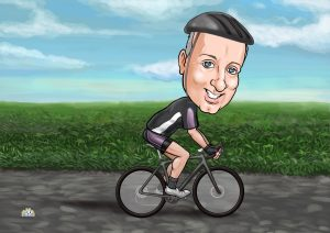 bicycle gifts for him cartoon-portrait