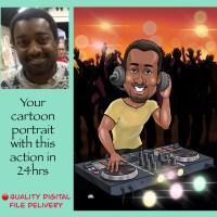 Caricature DJ gifts