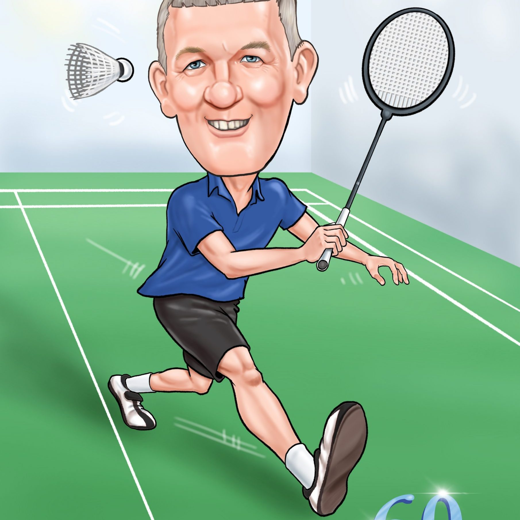 60th caricature for birthday